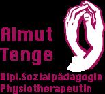 Logo von Almut Tenge Berlin: auf dem Logo sieht man zwei sich haltende Hände